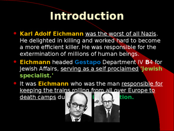 World War II - German Military Leaders - Adolph Eichmann