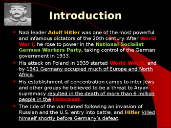 World War II - German Military Leaders - Adolph Hitler