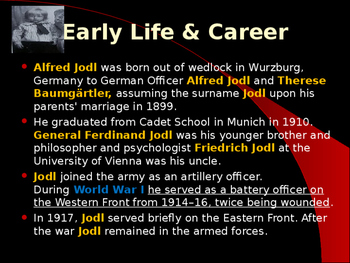 World War II - German Military Leaders - Alfred Jodl