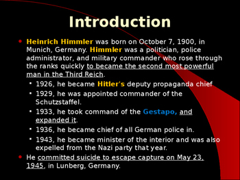 World War II - German Military Leaders - Heinrich Himmler