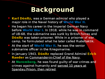 World War II - German Military Leaders - Karl Donitz