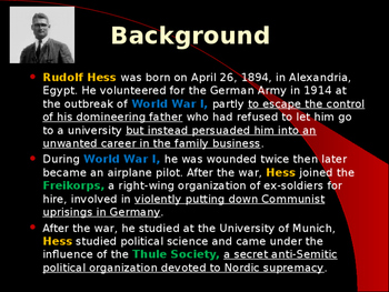 World War II - German Military Leaders - Rudolf Hess