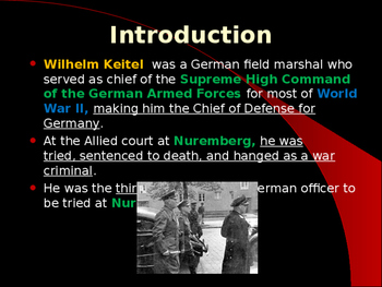 World War II - German Military Leaders - William Keitel