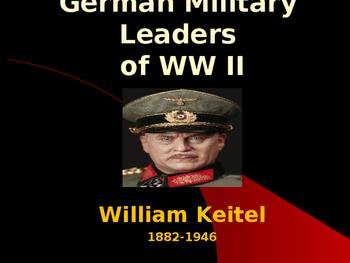 World War II - German Military Leaders - William Keitel