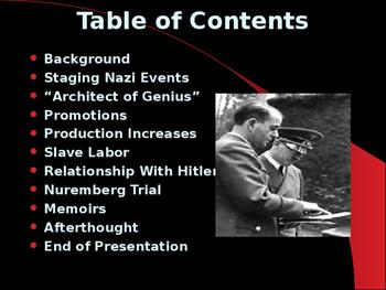World War II - German Political Leaders - Albert Speer