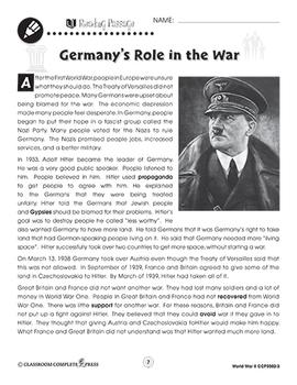 World War 2: Germany's Role in the War Gr. 5-8