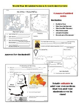 World War II Guided Notes and Slides
