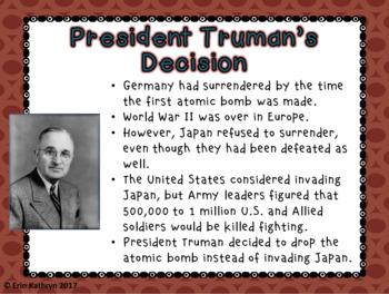 World War II: Hiroshima and Nagasaki (Atomic Bomb) PowerPoint and Notes Set