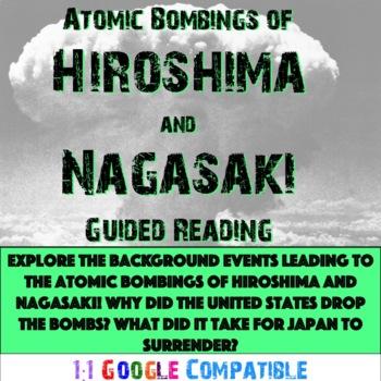 World War II - Hiroshima and Nagasaki Guided Reading!