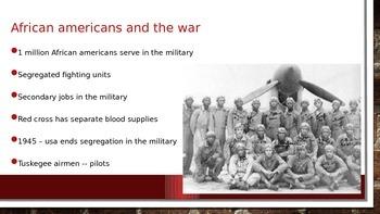 World War II Homefront PowerPoint - NYS US History Regents Aligned