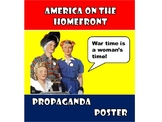 World War II Homefront Propaganda Poster - ELL included!