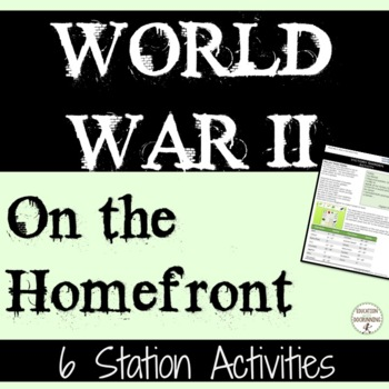 World War II Station Activities for life on the Home Front