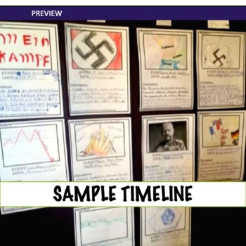 World War 2 Illustrated Timeline Activity or Collaborative Project UPDATED