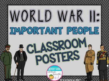 World War II Important People Classroom Posters (WWII, WW2)