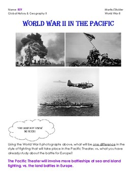 World War II In The Pacific Notes