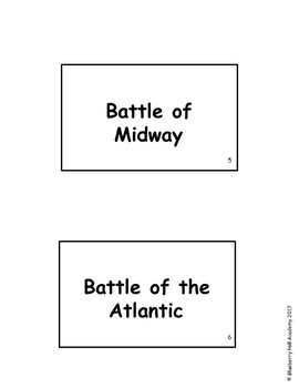 World War II Information Flash Cards