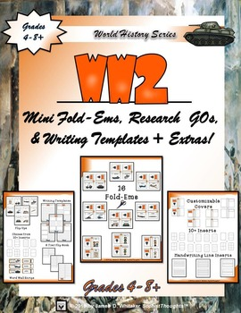 World War II Interactive Mini Research  Fold-Ems and Activities