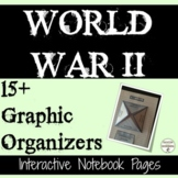 World War 2 Interactive Notebook Graphic Organizers for Wo
