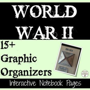 World War II Interactive Notebook Graphic Organizers for W