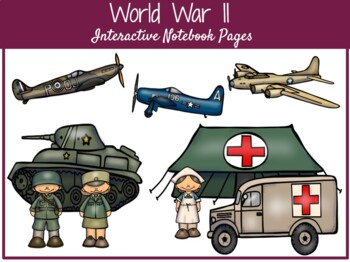 World War II Interactive Notebook Pages  **EDITABLE**