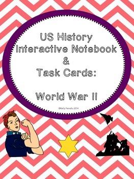 World War II : Interactive Notebook, Task Cards, and Activities
