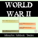 World War 2 Interactive Notebook Comparative Timeline Activity UPDATED