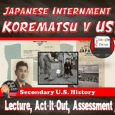 World War II Japanese Internment Activity & Play  Print and Digital