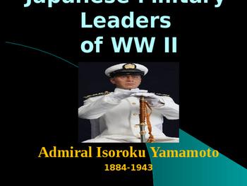 World War II - Japanese Military Leaders - Isoroku Yamamoto