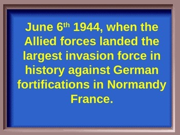 World History:  World War II Jeopardy Review