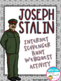 World War II Joseph Stalin Internet Scavenger Hunt WebQuest Activity