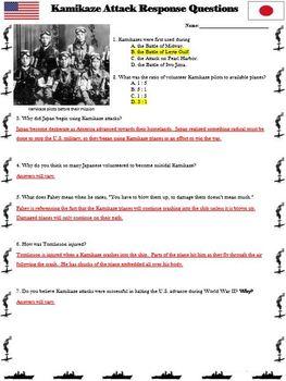 World War II - Kamikaze Attack Primary Source Reading Passage