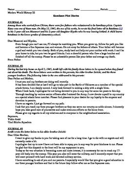 World War II: Kamikaze Pilot Diaries- readings and guiding