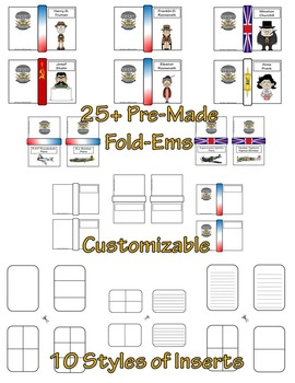 World War II Leaders and Figures Fold-Ems & Writing Templates