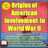 World War II - Origins of American Involvement Presentation (Print & Digital)