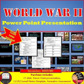 World War II Lecture Power Point Presentation w/CLOZE Notes