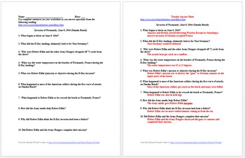 World War II Lesson Plan Collection