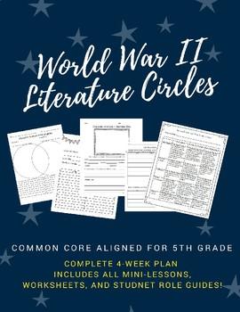 World War II Literature Circles for 5th Grade