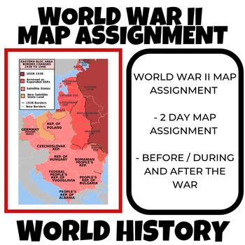 World Map Assignment.World War Ii Map Assignment World History By Social Studies Megastore
