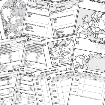 World War II Mapping Activity and Research Graphic Organizer