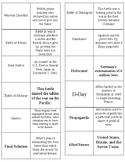World War II Matching Review Cards