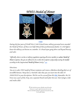 World War II Medal Of Honor