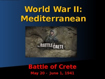 World War II - Mediterranean Sea - Battle of Crete