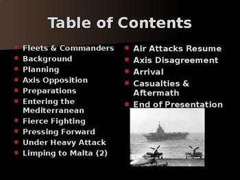 World War II - Mediterranean Sea - Operation Pedestal