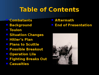 World War II - Mediterranean Sea - Scuttling of the French Fleet