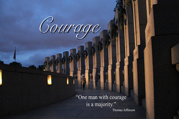 World War II Memorial Poster - Courage