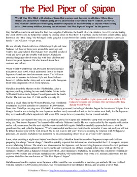 World War II Mexican-American Story - The Pied Piper of Saipan