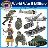 World War II Military Clip Art (World War 2, Soldiers, Plane, Aircraft Carrier)