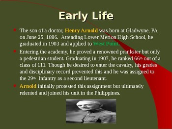 "World War II - Military Leaders - Henry ""Hap"" Arnold"