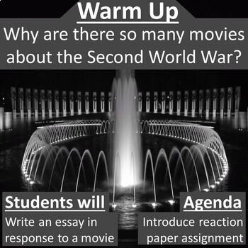 World War II Movie Reaction Paper Assignment