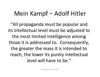 World War II:  Nazi Philosophy in 20 Slogans